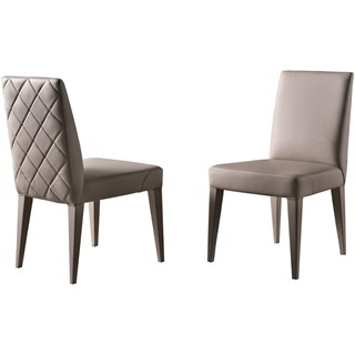 Touched D Tranquil Upholstered Leather Beech Diamond Backed Chair