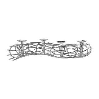 Twisted Nickel Plated Candle Holder