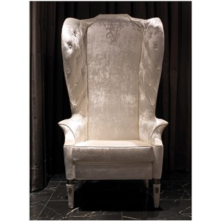 Upholstered Tufted High Back Armchair