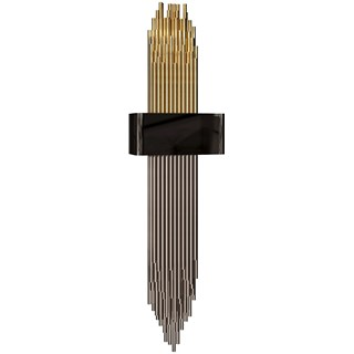 Vancouver Brass Gold Plated & Chrome Nickel Plated Wall Sconce