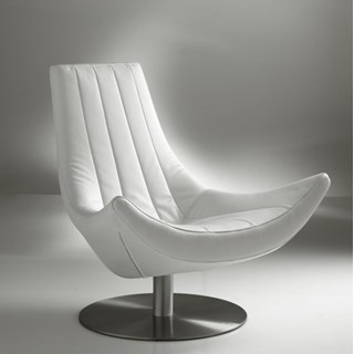 Luxury Upholstered White Love Seat