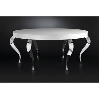Luxury round table with steel legs