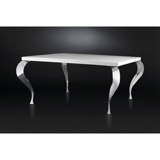 Luxury rectangle white dining table