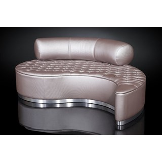 Luxury contemporary curved chaise longue