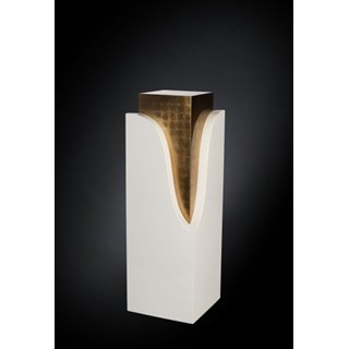 Luxury White High Gloss Gold Leaf Column
