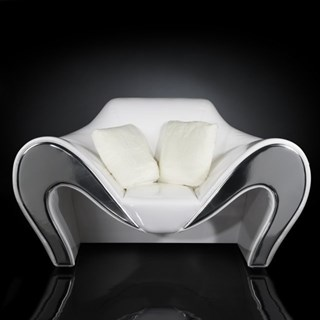 Luxury white and grey armchair sofa