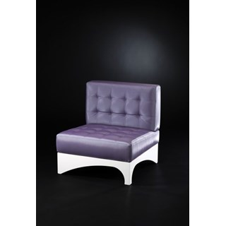 Luxury Upholstered Lilac And White Button Tufted Chair