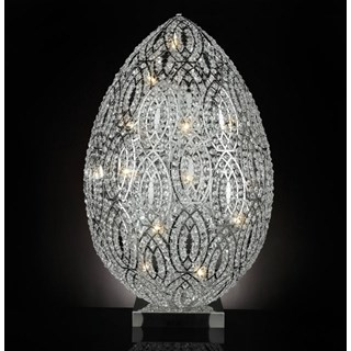 Luxury 155 cm tall LED Asfour crystal silver lamp
