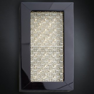 Luxury black Asfour crystal large rectangular box wall light