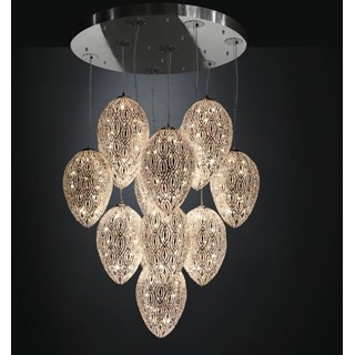 Luxury LED 288 Cm drop 14 shade Asfour Crystal Chandelier