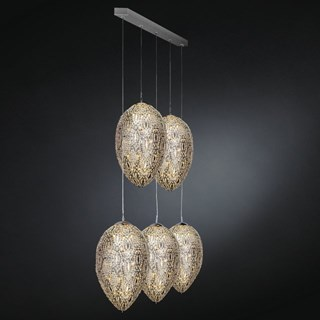 Luxury LED 330 cm drop 5 Shade Asfour Crystal chandelier