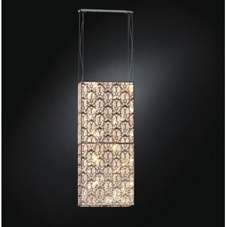 Luxury LED Vertical suspended Asfour Crystal Box light