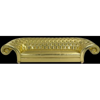 Luxury metallic gold chesterfield sofa