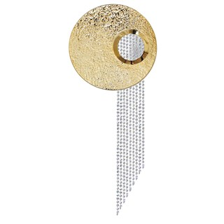 Hammered Gold Plated Brass Vivaldi Wall Lamp | Touched Interiors