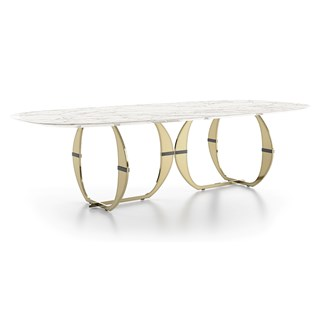 Vivienne Luxury Marble Dining Table | Touched Interiors