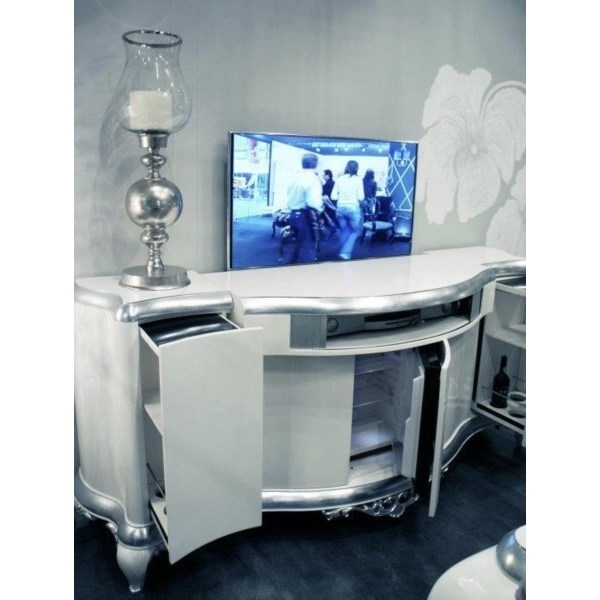 Electronic sideboard with automatic TV stand and mini bar
