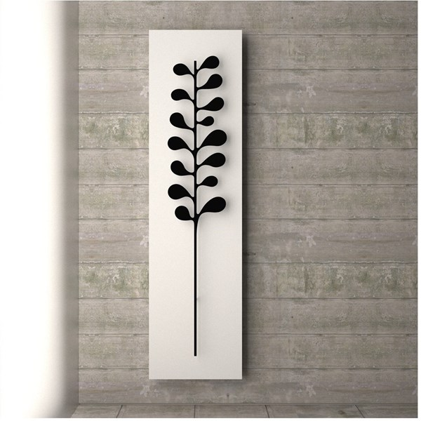 Luxury matte white and black towel rail radiator