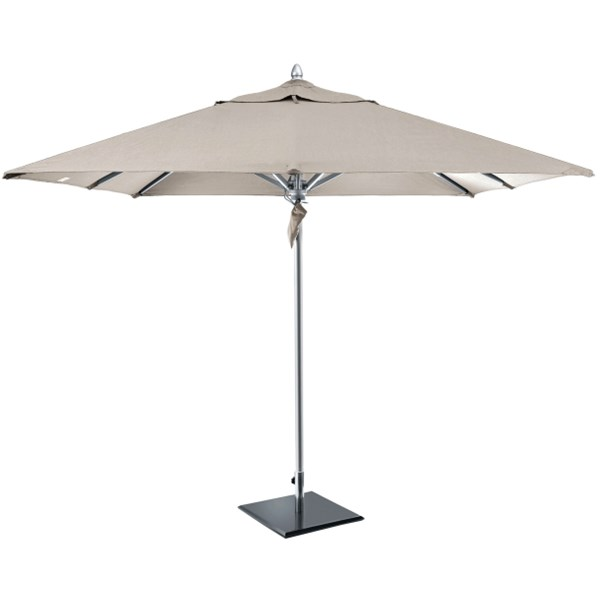 All Weather Luxury Parasol with Taupe Canopy