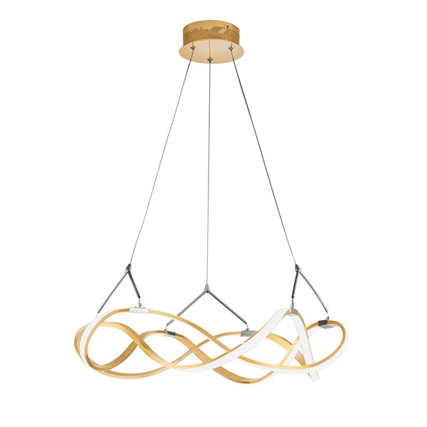 Luxury Brushed Gold Althea Pendant Light