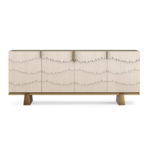 Aquinas Sideboard With Oak & Brass Detailing