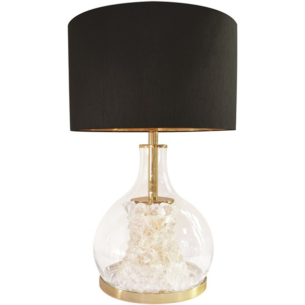 Arctic Gold Plated Brass & Blown Glass Table Lamp