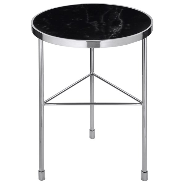 Armstrong Luxury Side Table with Black Marble Top