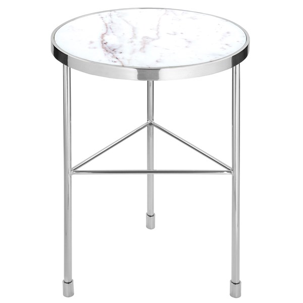 Armstrong Luxury Side Table with White Marble Top