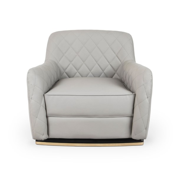 Atherton Upholstered Leather Luxury Armchair
