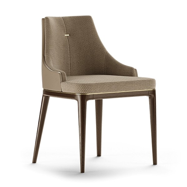 Aventine Dining Chair With Leather Backrest