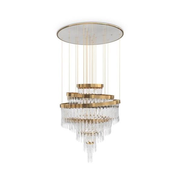 Bella Gold Plated Crystal Glass Luxury Chandelier