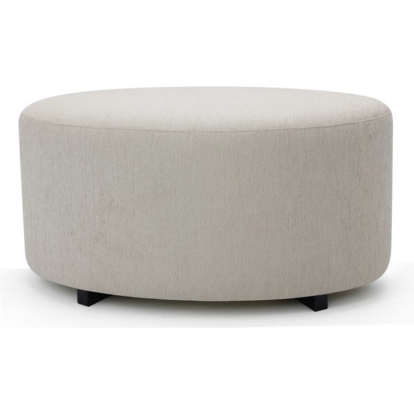Vincent Upholstered Oval Pouf