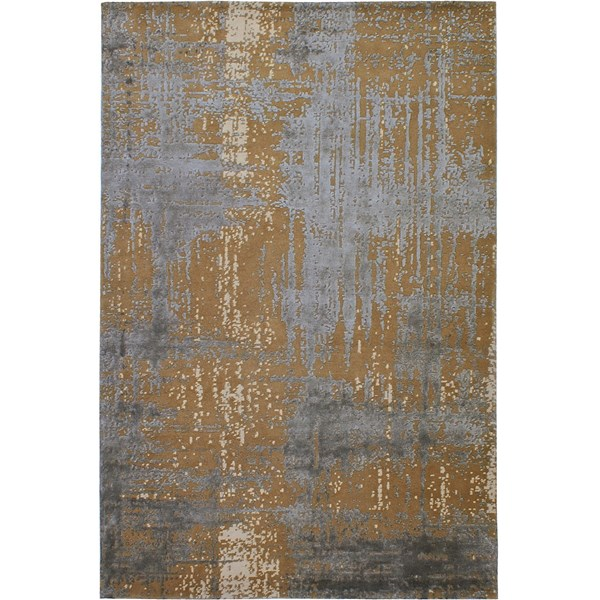 Caramel Hand Knotted New Zealand Wool And Viscose Sheen Rug