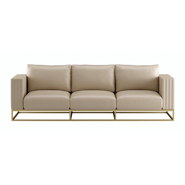 Touched D Upholstered Leather Catriona Sofa