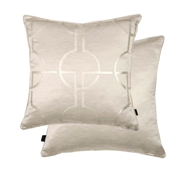 City Silver Luxury Feather Padded Cushion