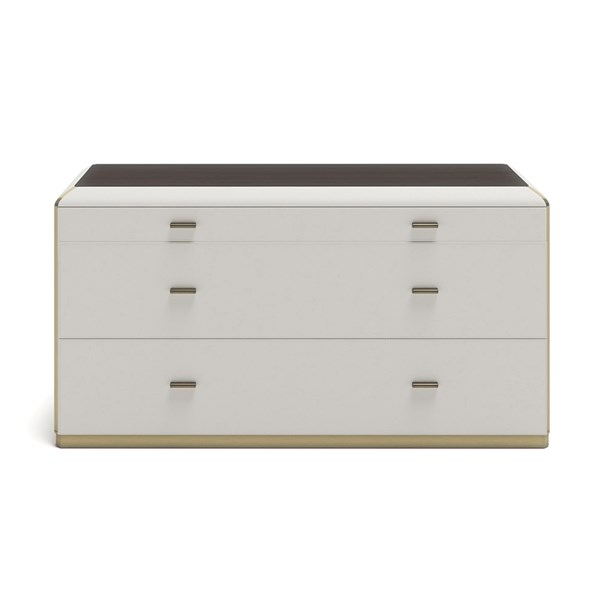 Upholstered Leather Claudette Chest Of Drawers