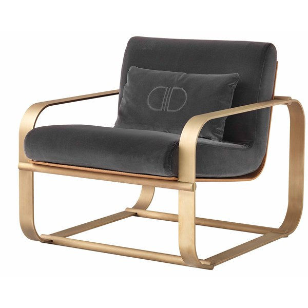 Touched D Upholstered Leather Cupertino Armchair