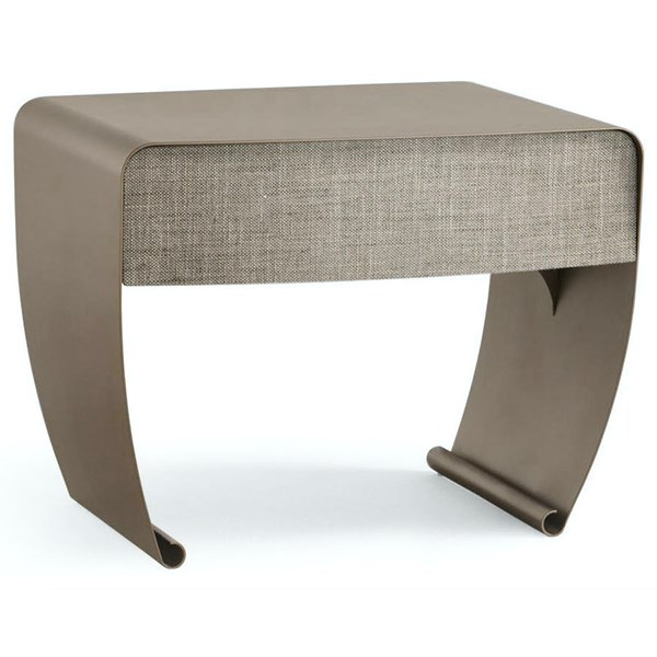 Curl Metallic Iron Luxury Bedside Table