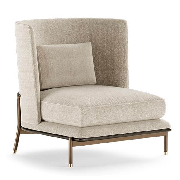 Cybele Armchair With Square Backrest