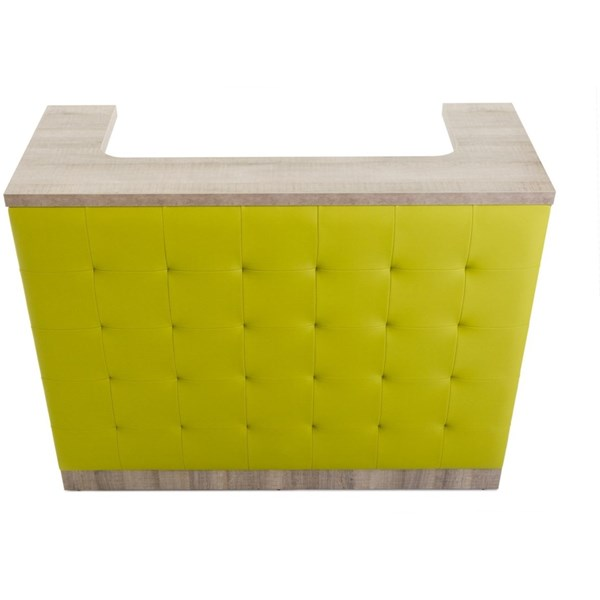 Danes Reception Desk with Upholstered Front Panel