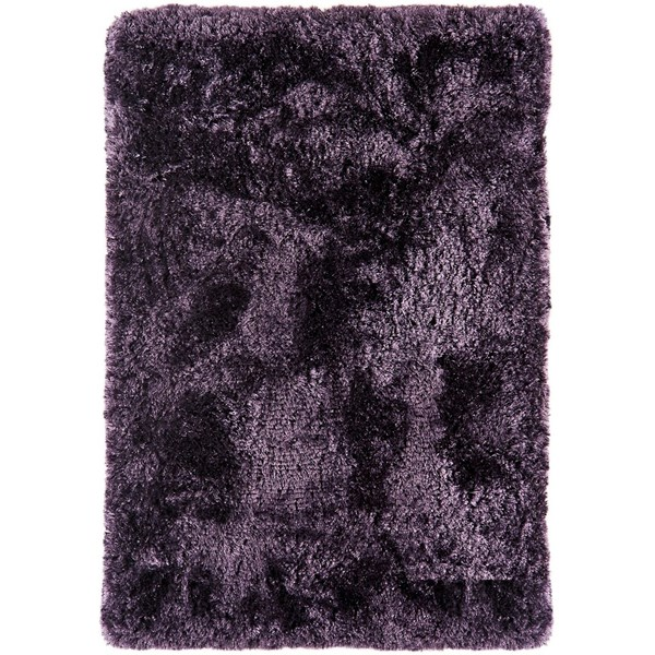 Deep luxurious purple shaggy rug