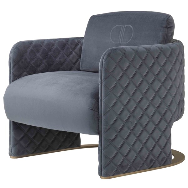 Touched D Diamond Quilted Delia Armchair