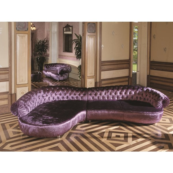 Elly chaise longue bright purple large sofa