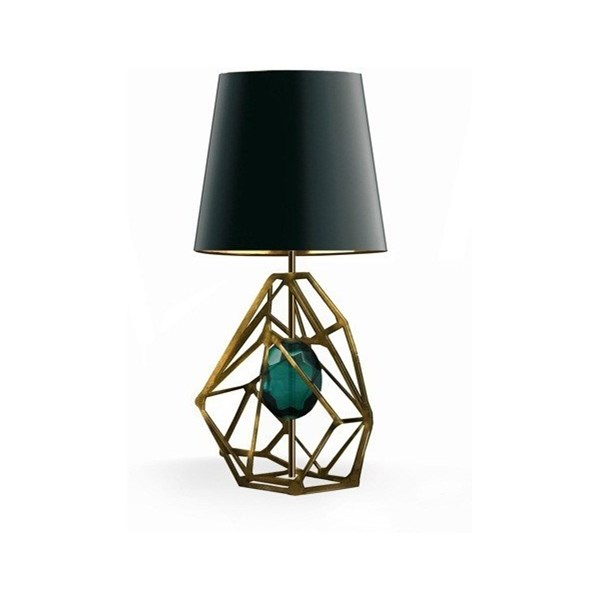 Luxury Gem Antique Gold Table Lamp