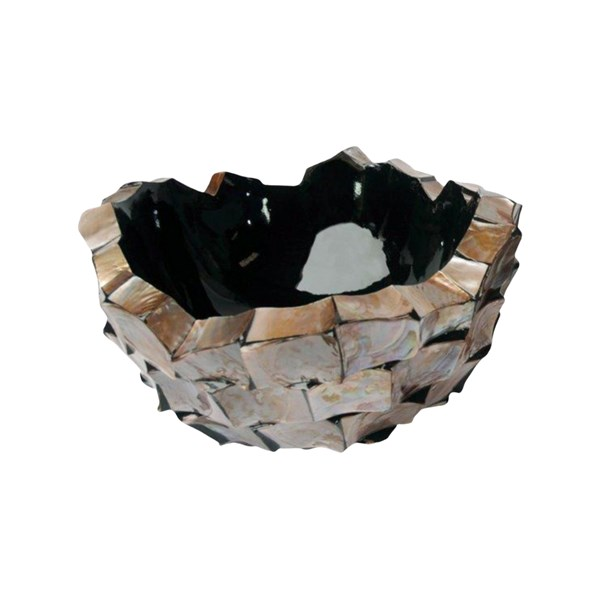 Gosrottie Brown Round Seashell Bowl