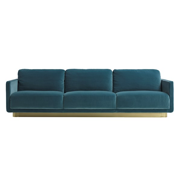 Touched D Satin Brass Hamish Sofa