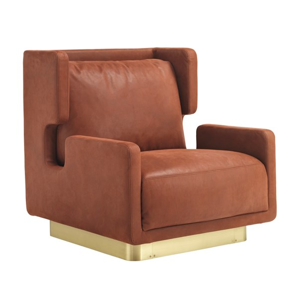 Touched D Satin Brass Hamish Armchair