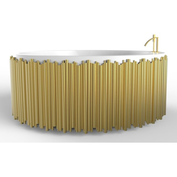 Harmony Gold Brass Oval Bathtub