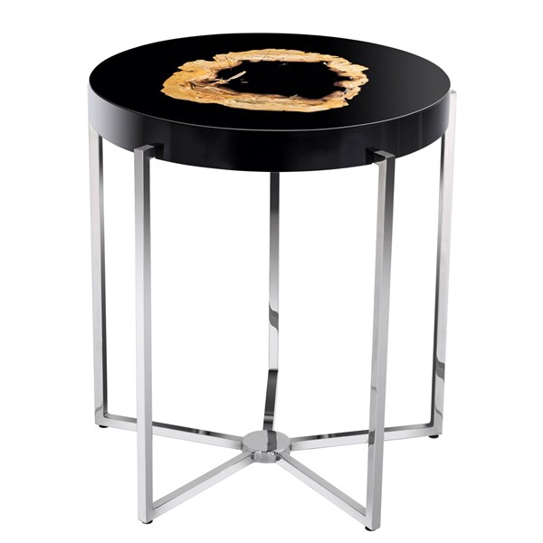 High Gloss Black Zaragoza Side Table
