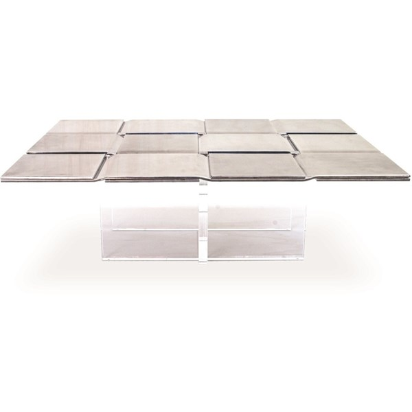 Idyllic Champagne Stainless Steel & Acrylic Centre Table