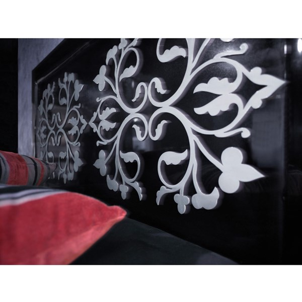 Black gloss and white detail King Size headboard
